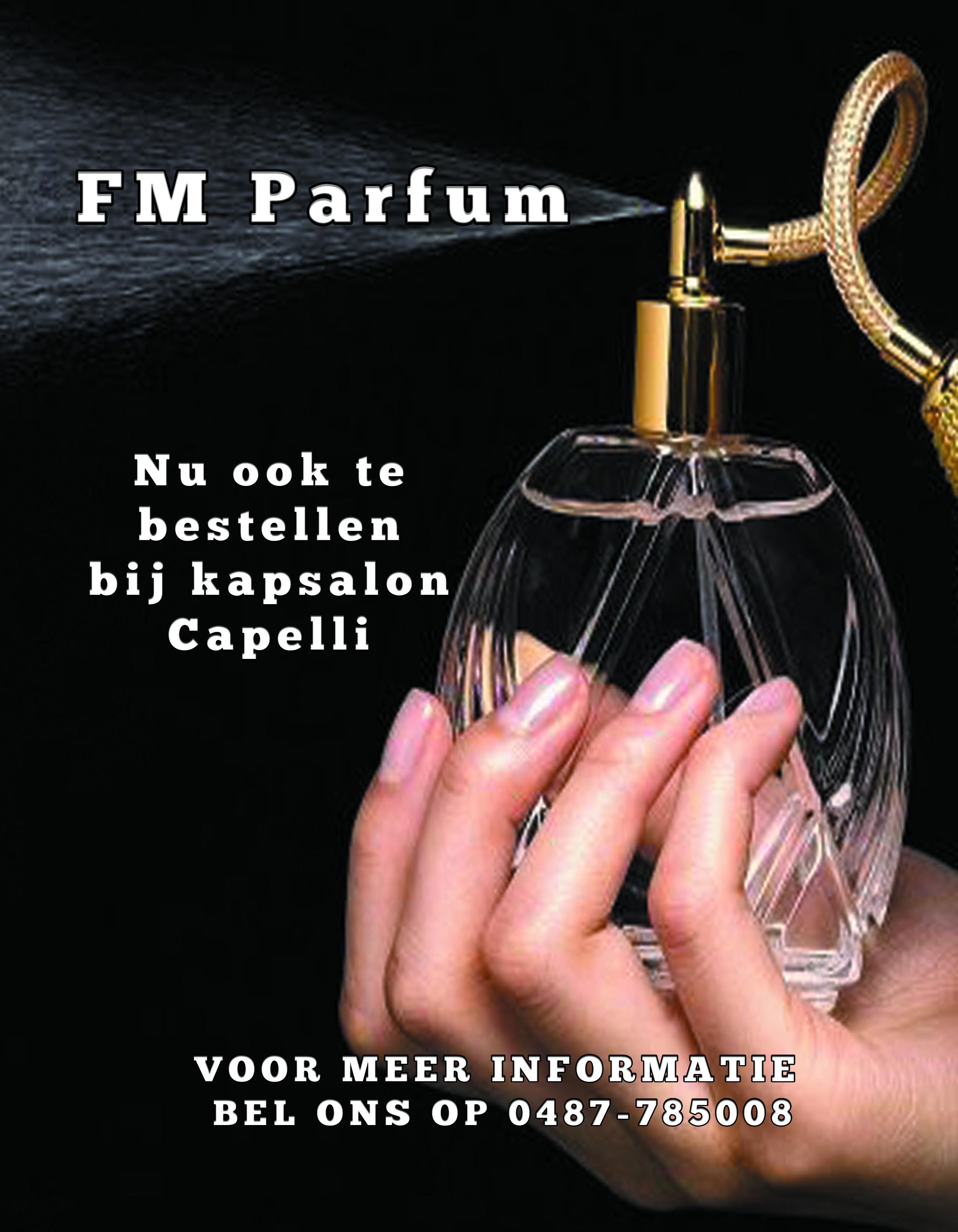 Nieuw bij kapsalon Capelli          FM Parfum